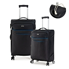 DF travel - 紀錄時光可充電可加大20+24吋防潑水布面行李箱