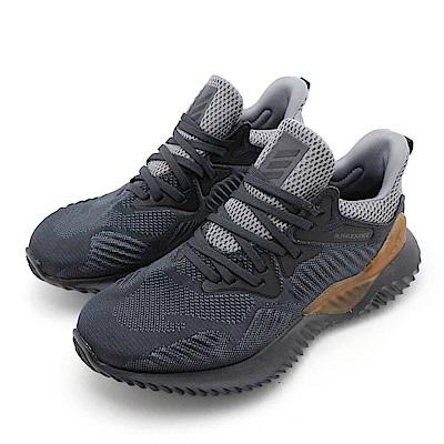 ADIDAS-ALPHABOUNCE女慢跑鞋-灰黑色