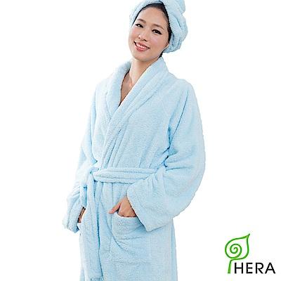 HERA 3M專利瞬吸快乾抗菌超柔纖浴袍-晴空藍