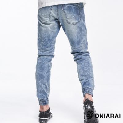 鬼洗BLUE WAY  - 鬼洗龍紋類針織705縮口丹寧褲