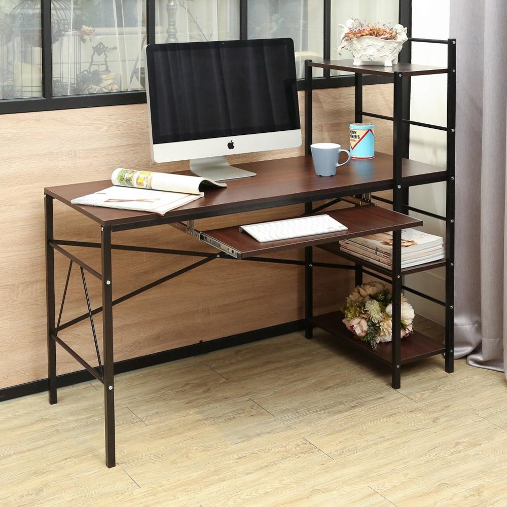 BuyJM瑞克附鍵盤雙向層架工作桌/書桌寬120公分-DIY