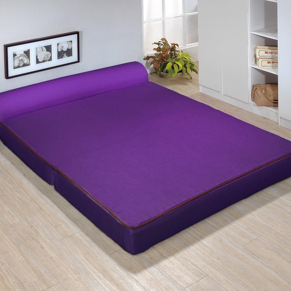 戀戀鄉 雙人5尺三折彈簧沙發床 沙發椅 布沙發-四色可選