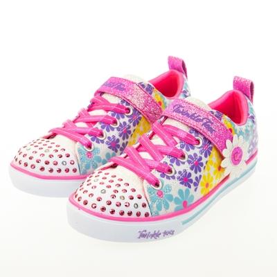 SKECHERS 女童系列 SPARKLE LITE 燈鞋 - 314761LWMLT