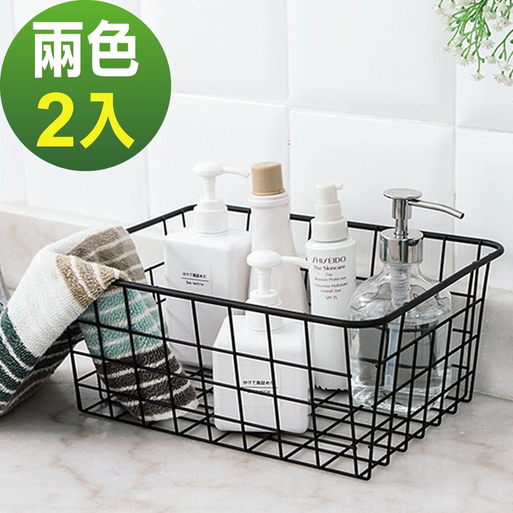 (2入組)日式簡約鐵藝收納籃/瀝水架 lemonsolo