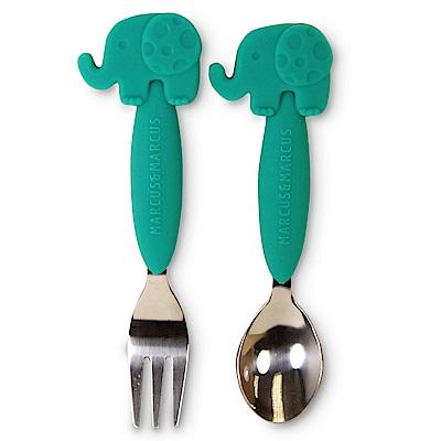【MARCUS&MARCUS】動物樂園不鏽鋼叉匙餐具組-大象