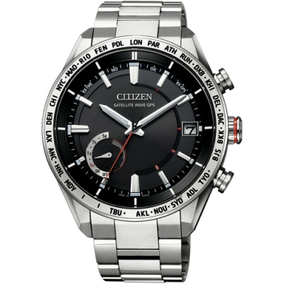 CITIZEN 星辰 GPS光動能衛星對時鈦金屬手錶(CC3081-52E)