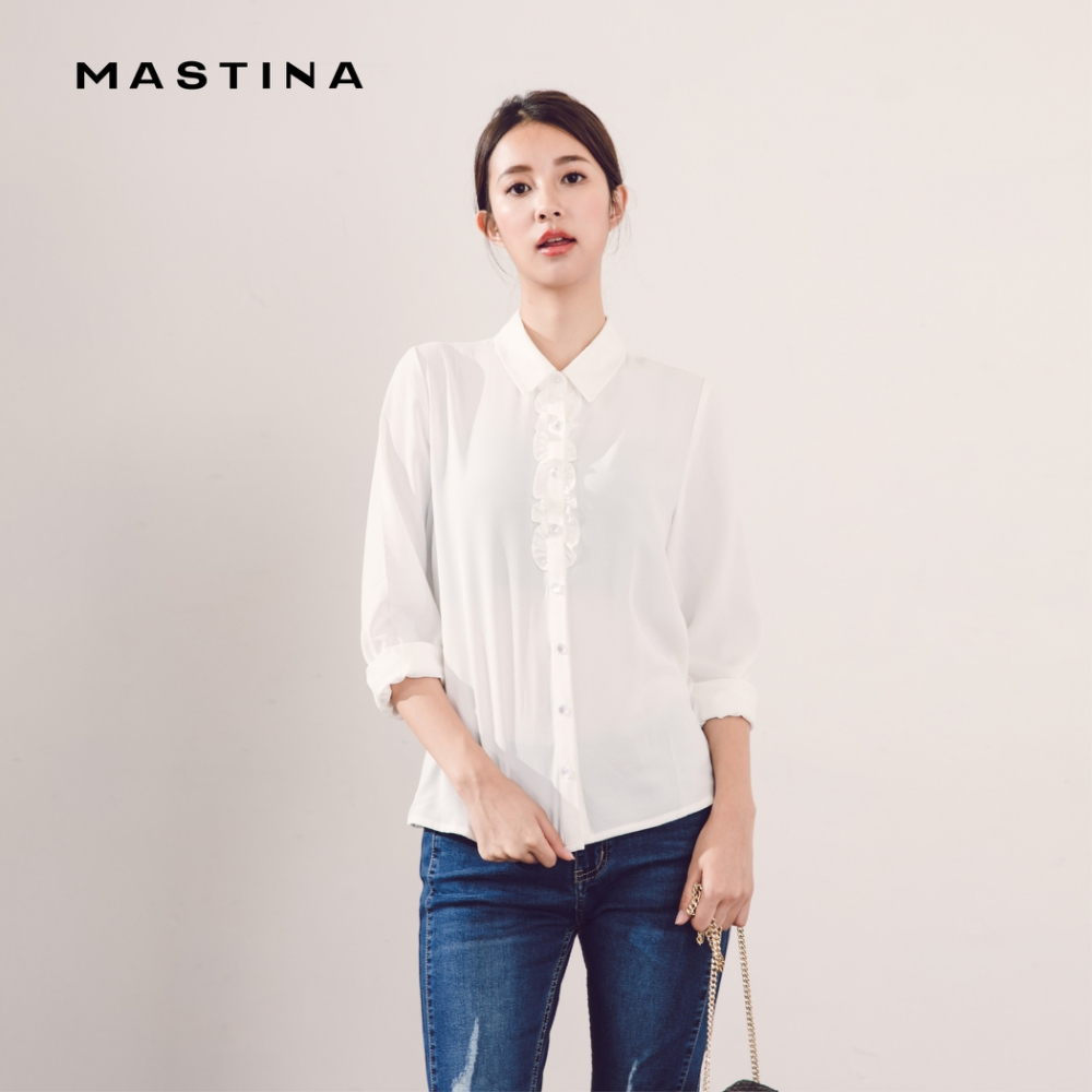 【MASTINA】簡約上班族百搭-襯衫(白色)
