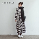 【MOSS CLUB】英倫風長版格紋-洋裝(二色)
