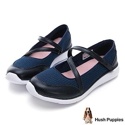 Hush Puppies Stork 魔鬼氈休閒鞋-藍色