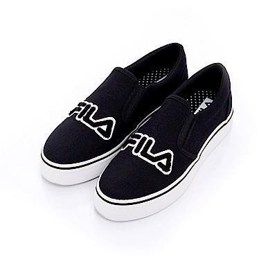 FILA 女款帆布休閒鞋-黑 5-C602S-001