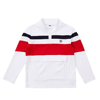 FILA KIDS 立領上衣-白 1TES-8402-WT