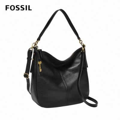 FOSSIL 母親節優惠 Jolie 真皮新月斜背包 大款-黑色 ZB1434001