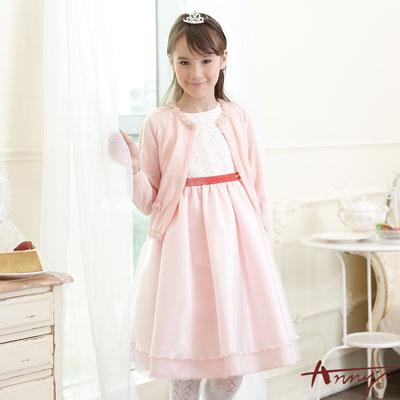 Anny夢幻彩暈星紗高級緞質金飾禮服*5203粉