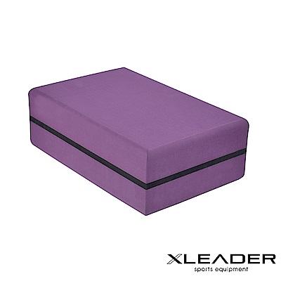 Leader X 環保TPE高密度防滑 高硬度加重瑜珈磚 深紫