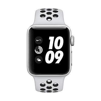 Apple Watch Series 3 GPS 38mm銀鋁殼黑Nike錶帶