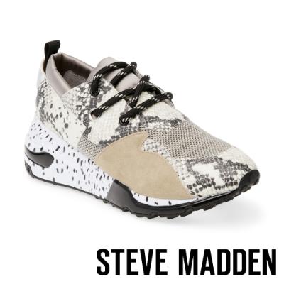 STEVE MADDEN-CLIFF 潮流款拼接時尚老爹鞋-特殊紋黑色