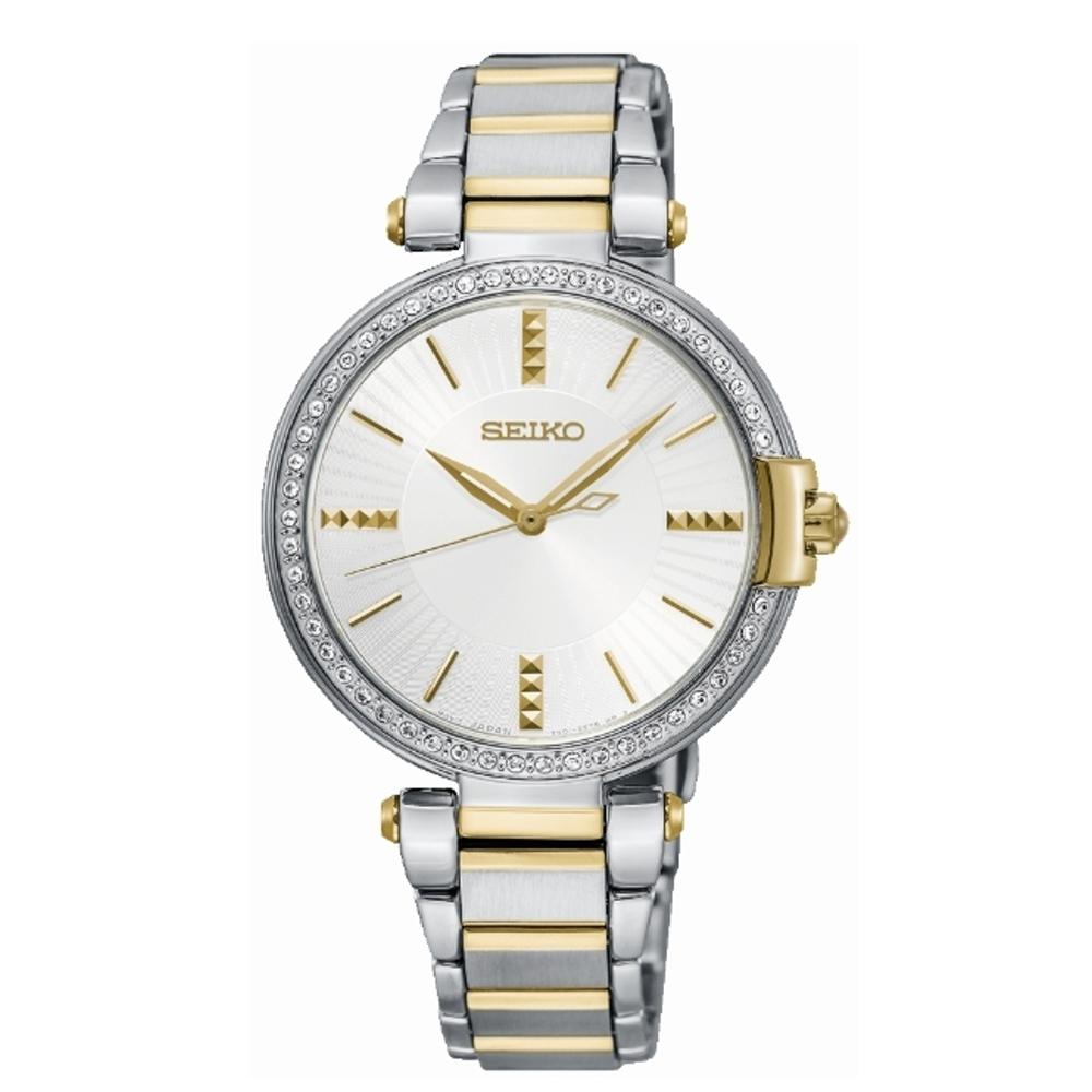 SEIKO 精工優雅璀鑽石英腕錶-金鑽(7N01-0KH0K/SRZ516P1)