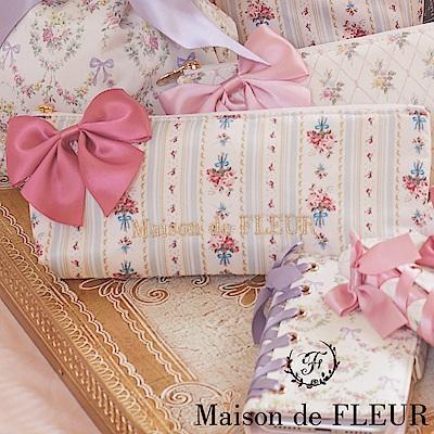 Maison de FLEUR 碎花柄蝴蝶結絲帶化妝包