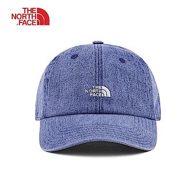 The North Face北面男女款藍色遮陽運動帽|3FKNBV6