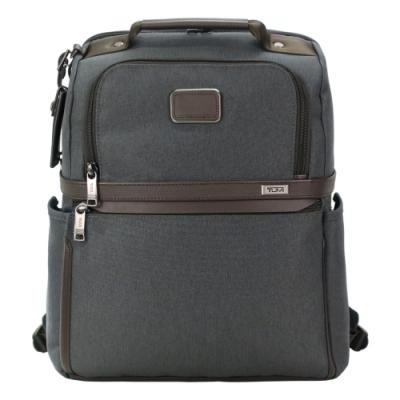 TUMI ALPHA 3 時尚商務後背包(適用15吋筆電)-炭灰
