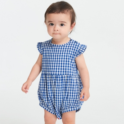 【mamaway 媽媽餵】BABY 格紋平織包屁衣(共2色)