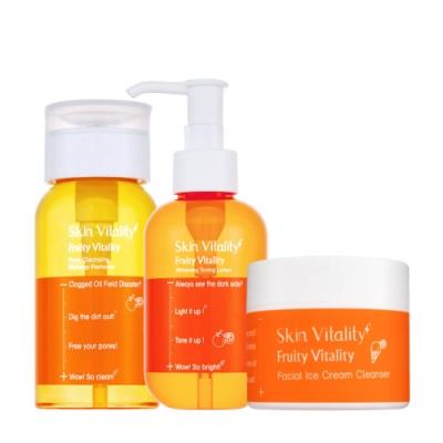 Skin Vitality 膚能量毛孔卸妝水150mL+潔顏冰淇淋50g+化妝水150mL