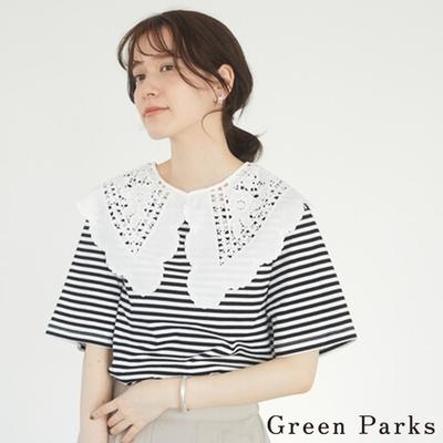Green Parks 【SET ITEM】可愛蕾絲花領+素面T恤