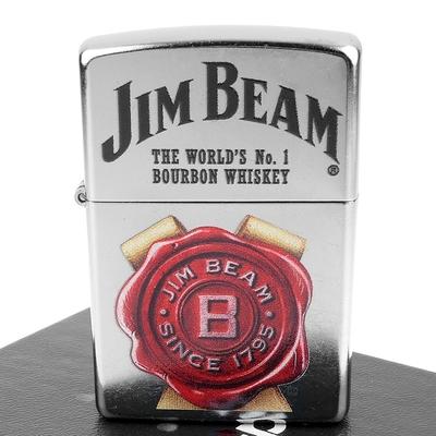 ZIPPO 美系~JIM BEAM金賓波本威士忌-標誌圖案設計