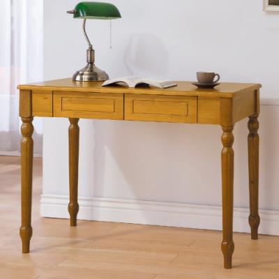 AS-安娜全實木3.5尺書桌-100x60x74cm(兩色可選)