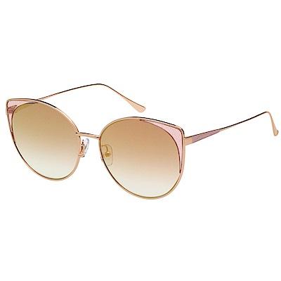VEDI VERO 優雅 水銀面 太陽眼鏡 (玫瑰金)