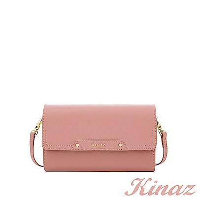 KINAZ 夢幻糖衣兩用斜背包-玫瑰粉-城市輕旅系列