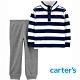 【Carter's】藍白條紋2件組套裝(2T-5T) (上衣/長褲)  (台灣總代理) product thumbnail 1