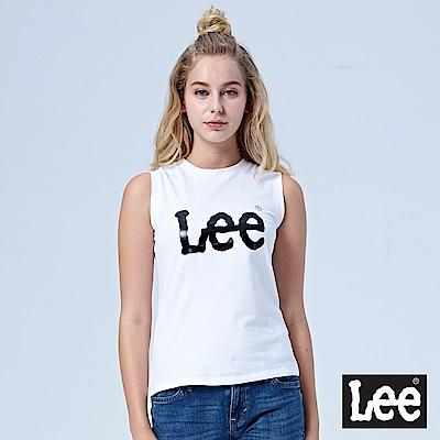 Lee 大LOGO無袖背心-白色