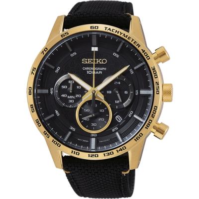 SEIKO精工 CS 50 周年紀念款計時手錶(SSB364P1)-黑/46mm