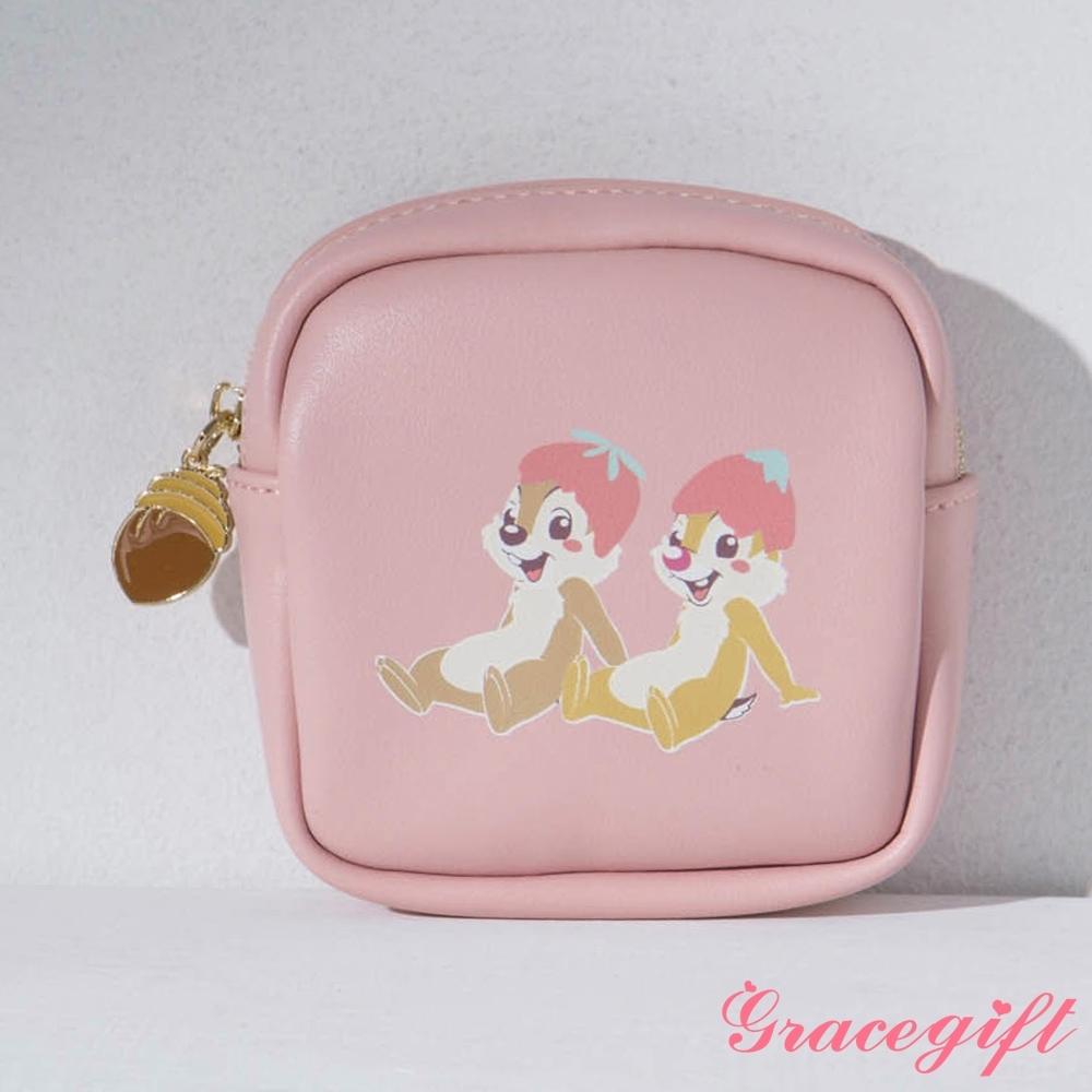 Disney collection by gracegift-迪士尼櫻花粉嫩方形零錢包 深粉 product image 1