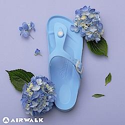 【AIRWALK】百搭羅馬夾腳拖鞋(淺藍)