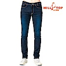 【hilltop山頂鳥】男款保暖修身牛仔褲H31MK7樣品黑色