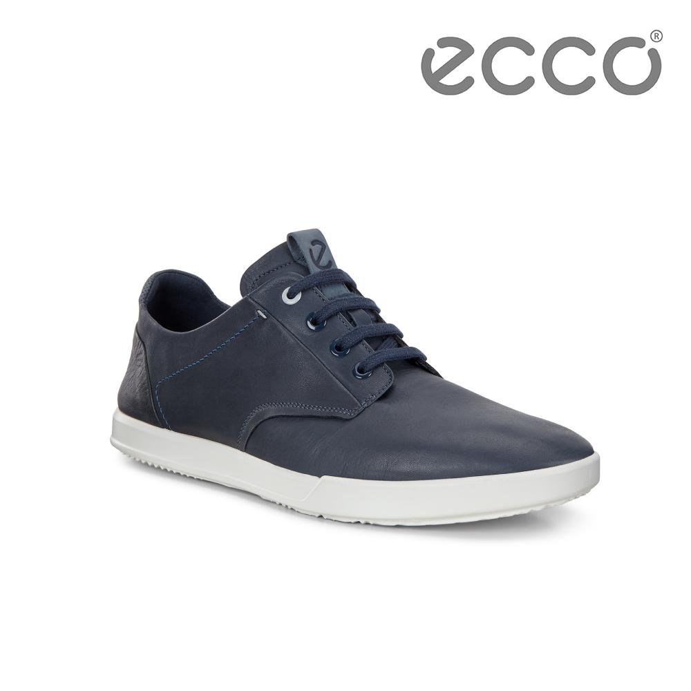 ECCO COLLIN 2.0 超柔軟牛皮都會休閒鞋 男-深藍