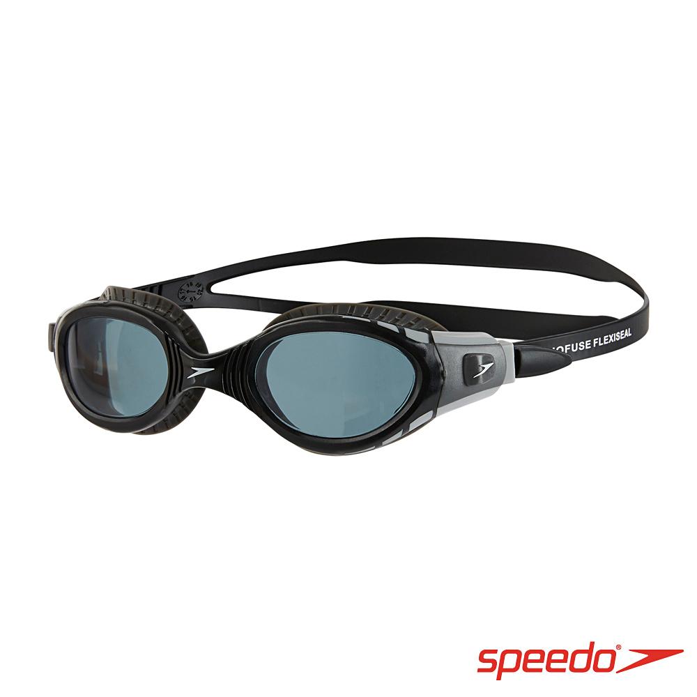 SPEEDO 成人 運動泳鏡 Futura Biofuse 黑灰