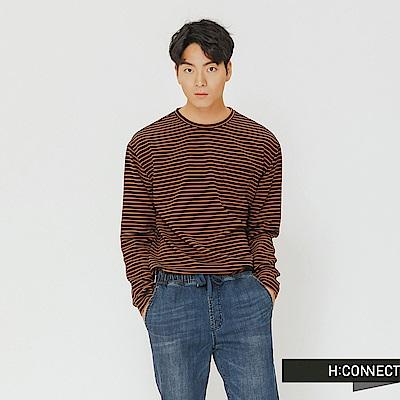 H:CONNECT 韓國品牌 男裝-細條紋口袋上衣-藍