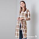 bossini女裝-長版襯衫洋裝01褐色