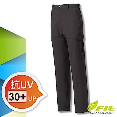 FIT 男新款 彈性吸排抗UV功能長褲_GS1803 碳灰色