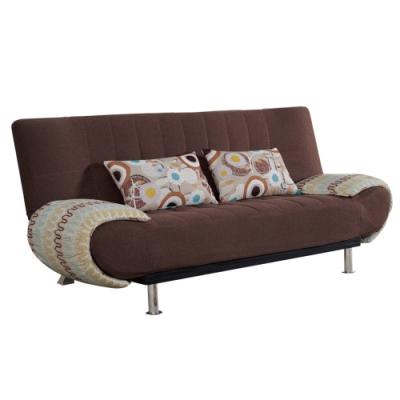 文創集 葛瑞棉麻布獨立筒沙發床(二色可選+展開式機能)-190x112x50cm免組