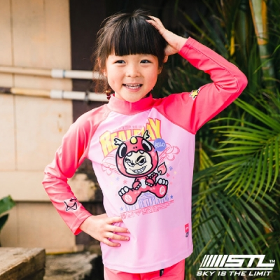 STL kids rash 兒童 韓國 海灘/海邊 機能運動戶外 防磨 水母衣 粉