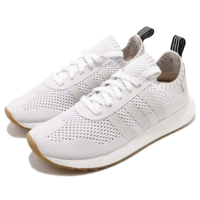 adidas 休閒鞋 FLB Runner 襪套 女鞋 愛迪達 輕量 透氣 舒適 穿搭 球鞋 灰 白
