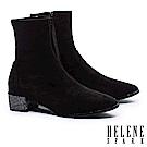 襪靴 HELENE SPARK 摩登時尚晶鑽粗跟彈力襪靴-黑
