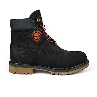 Timberland 男款黑色正絨面皮革 Icon 六吋靴|A1U7M
