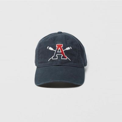 A&F 經典電繡圖案復古鴨舌老帽-深藍色 AF Abercrombie