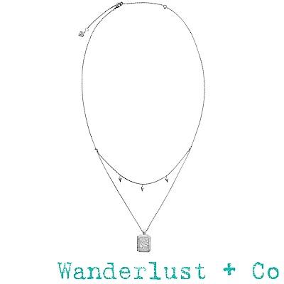 Wanderlust+Co Wanderlust 薩利亞小盒項鍊 - 銀色