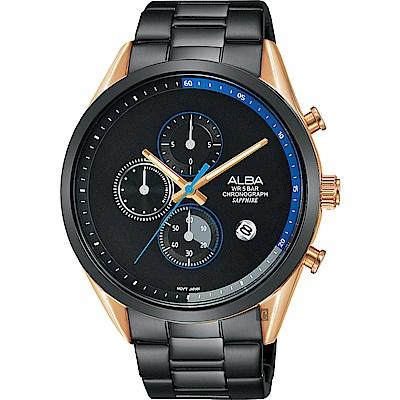 ALBA雅柏 Tokyo Design 情人限定原創計時手錶(AM3594X1)-44mm